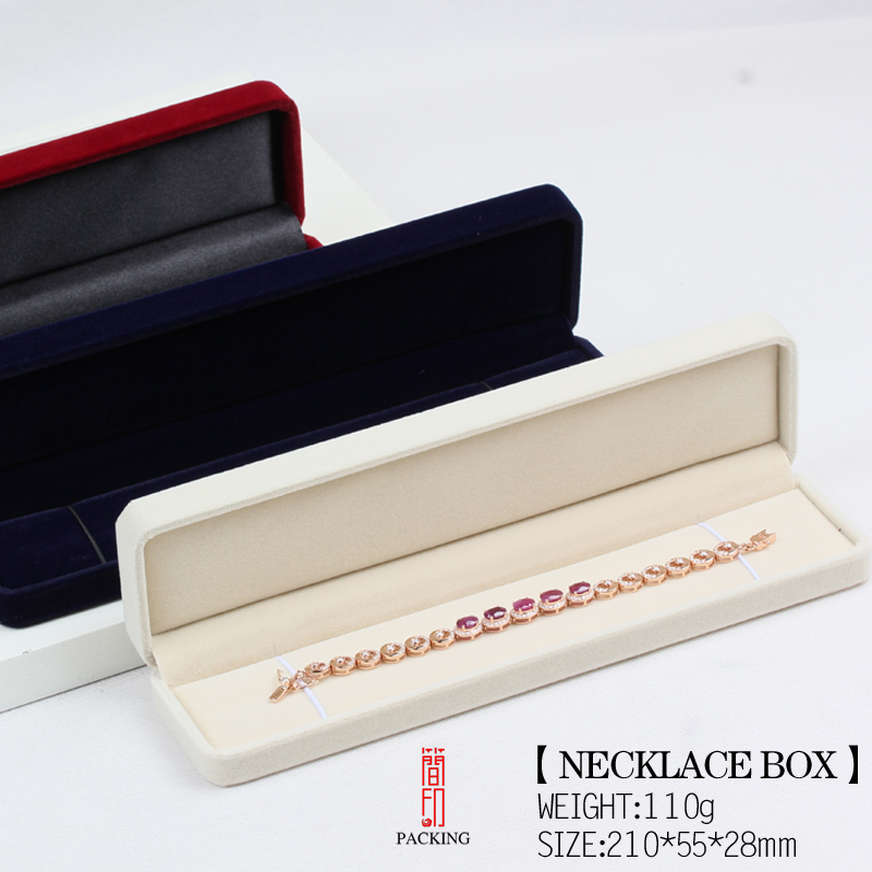 6pcs/lot Velvet Necklace Or pulseras Boxes Jewelry Packaging Casket The Pearl Pendant Case For Jewelry Gift packing