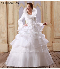 NIXUANYUAN Paragraph Neat Long Sleeve Add Wedding Dress