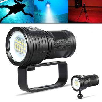 QX27 500W Fitteen 5050 White XML2 Six XPE Red R5 Six XPE Blue R5 LED Support Underwater 80m Flashlight for Photography / Diving