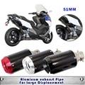 Modificado de escape de la motocicleta silenciador cbr cbr1000 cb400 cb600 z800 600 motos gy6 silenciador silenciador de escape moto accesorios