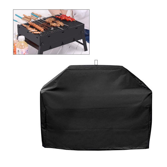 1PC BBQ Grill Cover Waterproof Heavy Duty Patio Outdoor Oxford Barbecue Smoker Grill Cover Outdoor Barbecue Hood