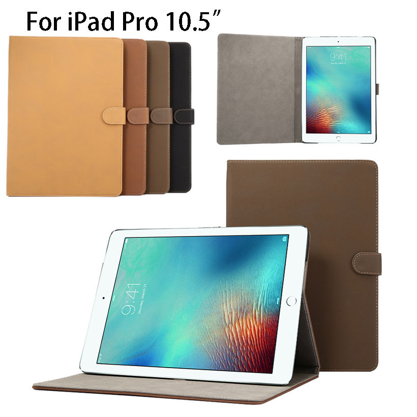 High Quality Ultra Slim Retro frosted Pattern PU Leather Case for Apple iPad Pro 10.5  Cover Tablet Stand shell skin Funda Capa ultra slim smart case cover for apple ipad pro 12 9 2015 2016 12 9 pu leather tablet folding folio cases pc back cover
