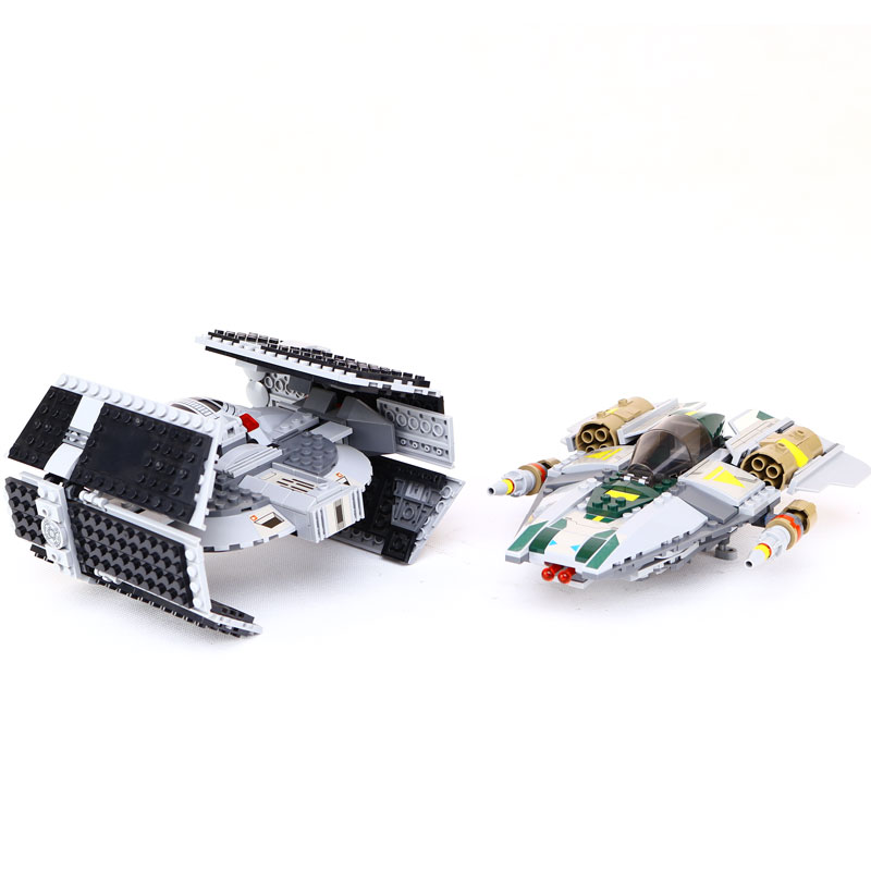 LEPIN 05030 Star Vader Tie Wars Advanced VS A-wing Starfighter legoing 75150 Building Blocks Bricks Compatible to children Gift 2017 new 1242pcs 05055 lepin star wars vader s tie advanced fighter model building kit figures blocks brick toy compatible 10175