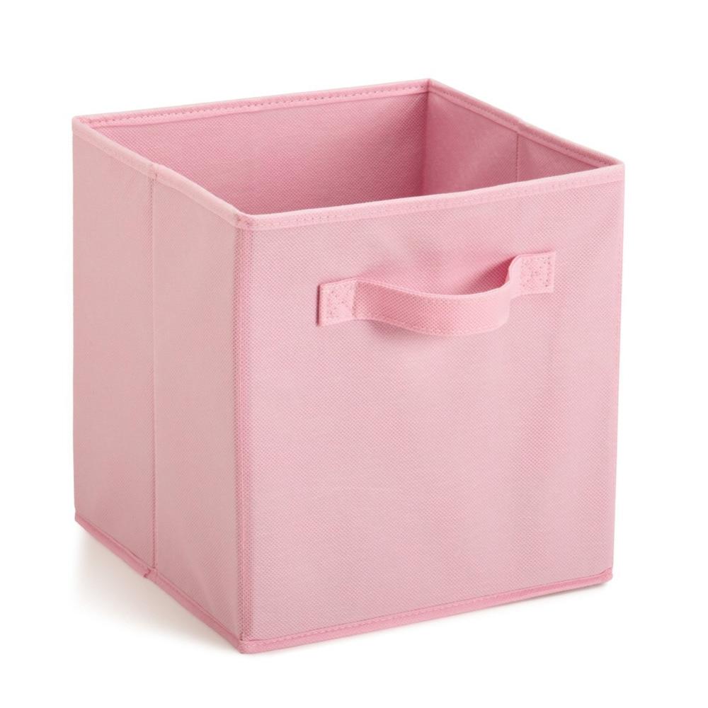 Best Price Home Storage Bins Organizer Fabric Cube Boxes