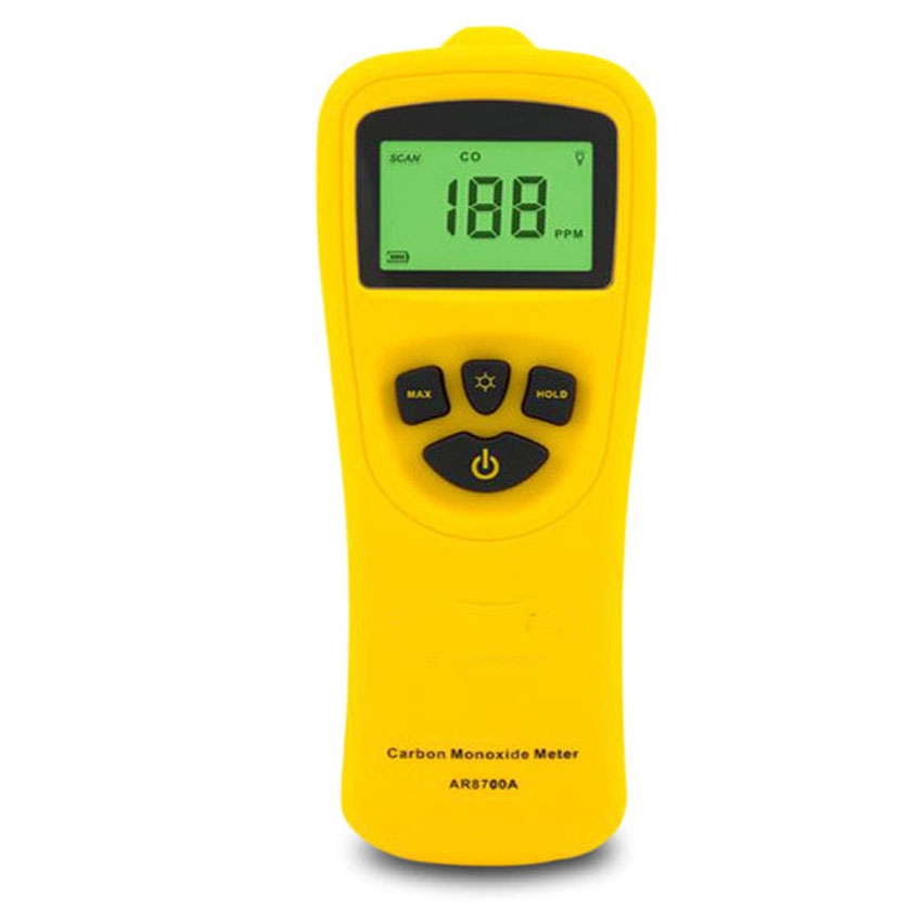 AR8700A High sensitivity Carbon monoxide Detector Tester detector CO analyzer detection Household Industrial portable leak alarm