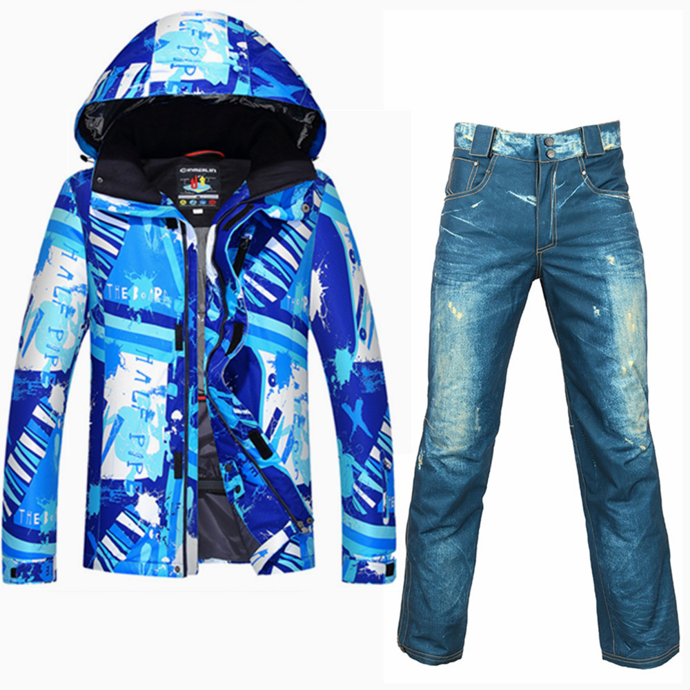 SAENSHING New Winter Ski Suit Men Outdoor Ski Jacket Thermal Waterproof Windproof Snowboard Jackets Pants Snow Skiing Clothes 40 man snow pants professional snowboarding pants waterproof windproof breathable winter outdoor camouflage ski suit trousers
