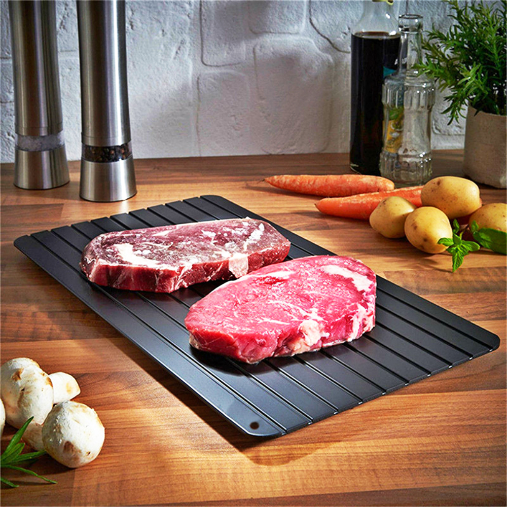 Fast Defrosting Tray Plate Non-Stick Frost Thaw Frozen Food Fruit Meat Beef Fish Safely Defrost Tray Kitchen Gadget ToolsFast Defrosting Tray Plate Non-Stick Frost Thaw Frozen Food Fruit Meat Beef Fish Safely Defrost Tray Kitchen Gadget Tools