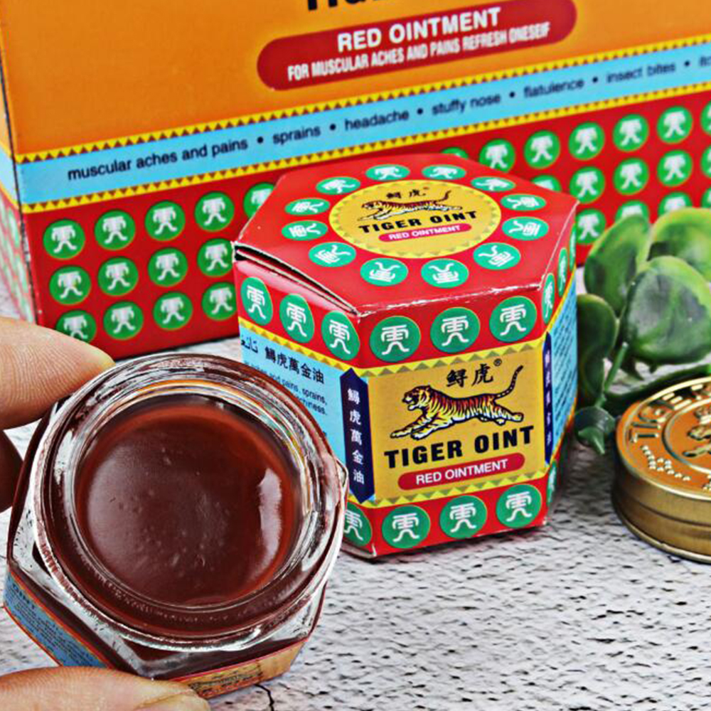 100% Original Red Tiger Balm Ointment Thailand Painkiller Ointment Muscle Pain Relief Ointment Soothe itch 19.5g D207