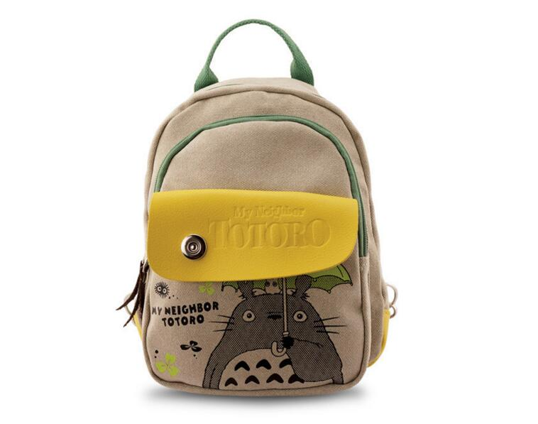 2017 New Fashion Women Anime Totoro Backpack Printing Travel Girl School