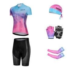 Women Cycling Set MTB Bike Clothing Racing Bicycle Clothes Ropa Ciclismo Cycling Wear Cycling Jersey Set Women Bike Summer Set