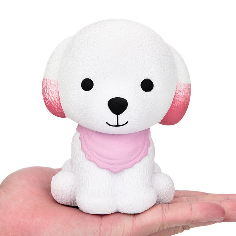 2018 New Arrival 1Pcs Jumbo Squishy Cute Puppy Scented Cream Dog Slow Rising Squeeze Decompression Toys Pink&Green&Blue Hot Drop