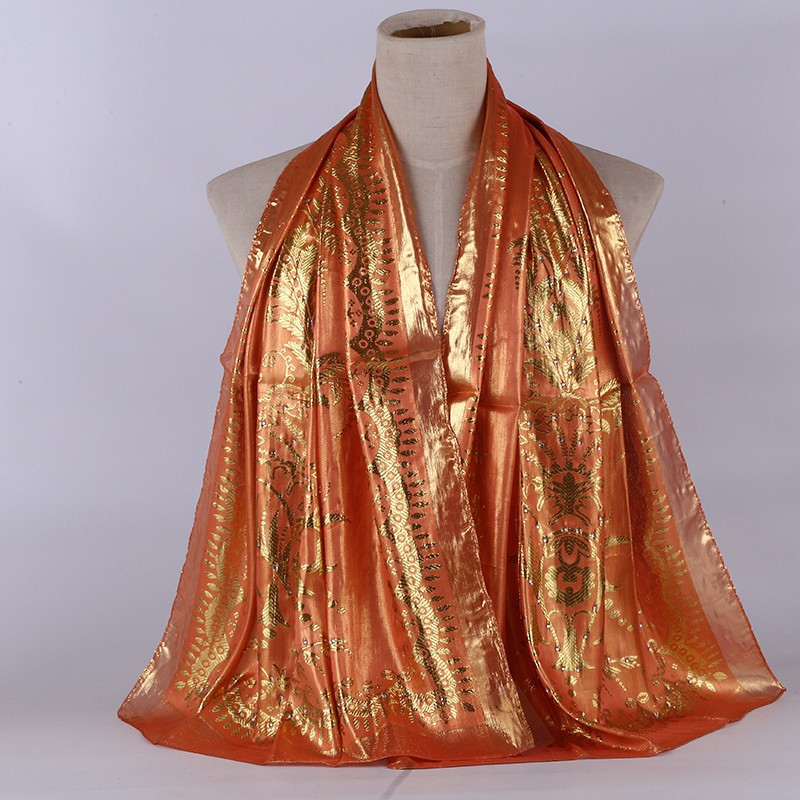 Hot Sale Muslim Turban For Ladies Sequins pure silk Scarf Inner Hijab Women Jersey Shawls Hoofddoek Moslima hijab mousseline in Women 39 s Scarves from Apparel Accessories