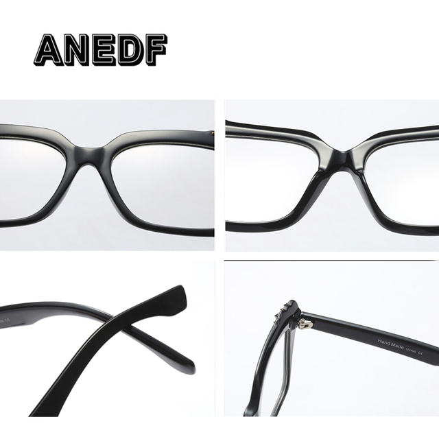 ANEDF 2018 Brand Design Metal Rivet Cat Eye Ladies Glasses Frames Square Women Optical Fashion Eyewear Computer Glasses