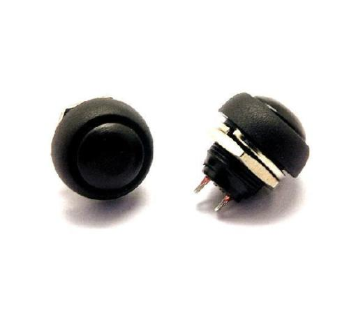 5 PCS Black 12mm Waterproof momentary Push button Switch Mini Round Switch NEW ...
