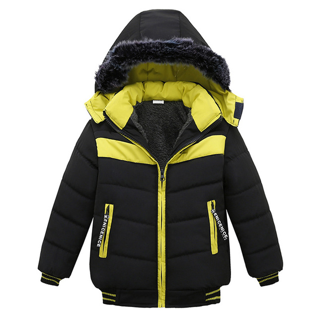 Toddler Baby Boys Jackets 2019 Autumn Winter Jacket For Boys Coat Kids Bomber Jacket Children Hooded Warm Cotton Outerwear Coat