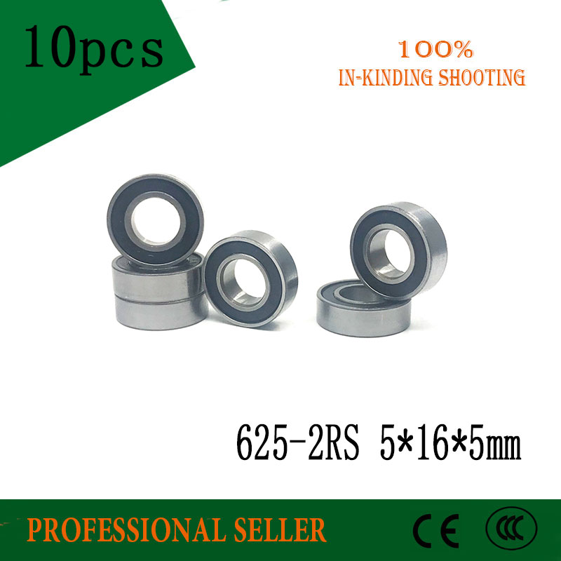 Power Transmission Cheap Sale Free Shipping 625rs 625 625-2rs Abec-3 Deep Groove Ball Bearing 5x16x5mm Miniature Bearing Crazy Price