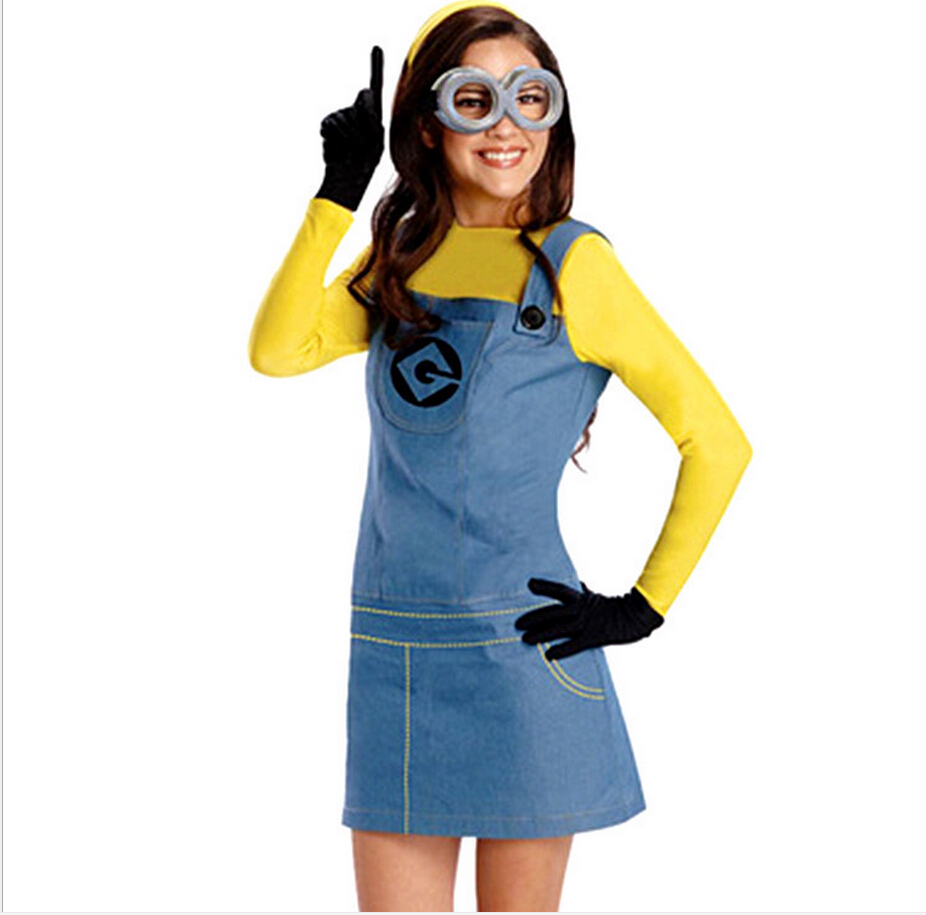 Costume Mesdames Small yellow people Minions Cosplay Costume ...