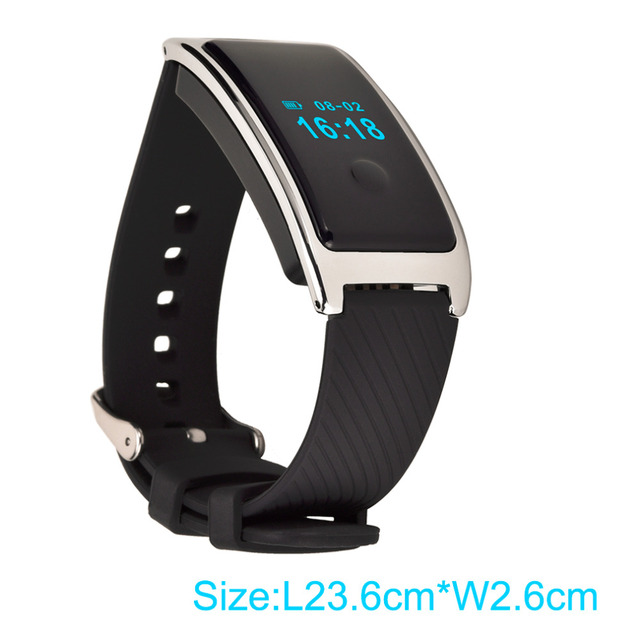 Universal Men Women Bluetooth Heart Rate Wristband LED Screen Display Heart Rate Monitor Fitness Tracker Band free shipping