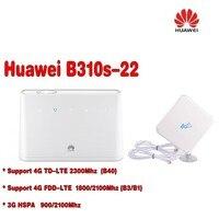 Desbloqueado HUAWEI 4g mifi router 150 mbps b310 B310S-22 4G LTE CPE ROUTER WIFI coche + 4g antena