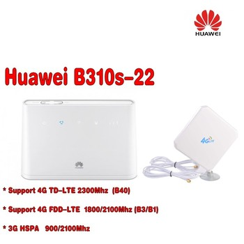 unlocked HUAWEI 4g mifi router 150mbps b310 B310S-22 4G LTE CPE WIFI car ROUTER  + 4g antenna
