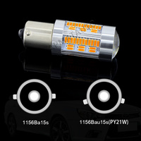 2x105 pz Ambra Giallo Circuito Integrato del LED No Flash Iper 1156 BAU15S PY21W P21W Anteriore Posteriore Disabilita Lampadina Segnale Per VW Golf4 Jetta