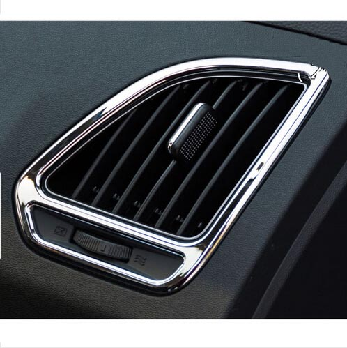 ABS outlet Chrome trim decoration cover ring Car Accessories For HYUNDAI IX35 2011 2012 2013 2014 stainless steel full window with center pillar decoration trim car accessories for hyundai ix35 2013 2014 2015 24