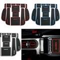 Antiderrapante Para Subaru Forester 2009 a 2016 Acessórios Palavras Adesivos de carro Porta Interior Copo Mat Ranhura Portão Pad Ranhura carro-Styling