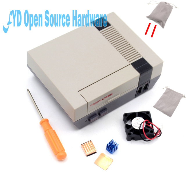 1set high quality Mini NES NESPI CASE Retroflag Case with Cooling Fan Designed for  Raspberry Pi 3 / 2 / B+