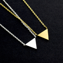 2017 Vintage Gold Silver Choker Stainless Steel Bijoux Boho Triangle Plate Charm Necklace Women Men Jewelry