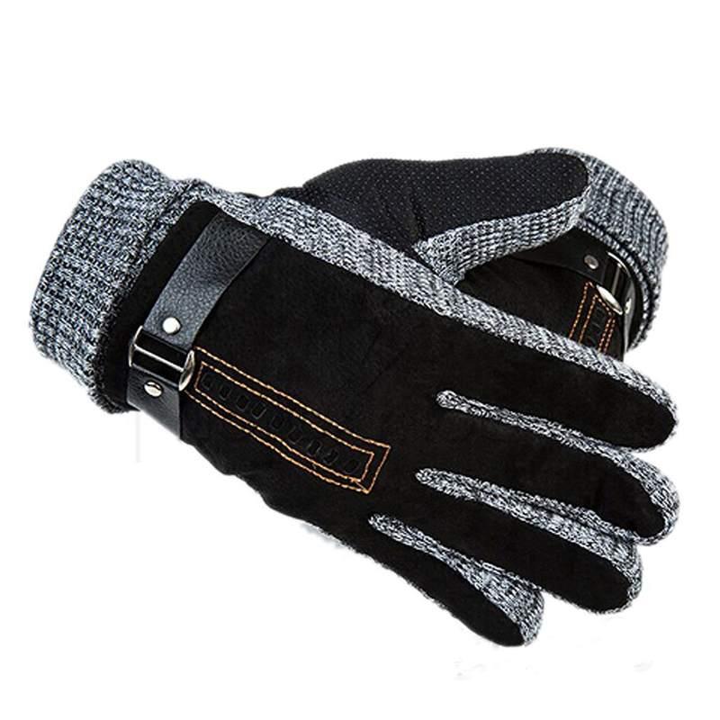 1 paire De Mode New Hiver Chaud Hommes de Gants/Mitaines Coton Velours Thermique Épaissir Coupe-Vent Gants de Conduite Élégant