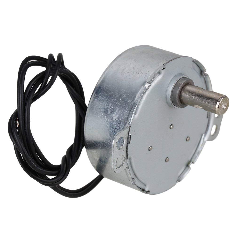 Synchronous Motor AC 220-240V 50/60Hz 4W 48-52 RPM Robust TYC-50 10MM ShaftSynchronous Motor AC 220-240V 50/60Hz 4W 48-52 RPM Robust TYC-50 10MM Shaft