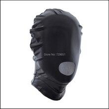 Секс Игры Красный черный Фетиш pu кожаные маски Секс Связывание Гуд маска Мужчины Раб Голова вытяжки Сексуальные Игрушки Эротические Товары Для Мужчин женский