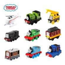 Thomas i przyjaciele Gator James silnik Gordon Henry Belle Mini pociągi akcesoria do kolejek klasyczny Metal Diecast samochód dzieci zabawki