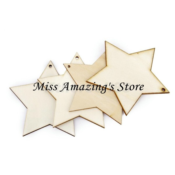 Online buy wholesale unfinished wood stars from china for Wholesale wood craft cutouts