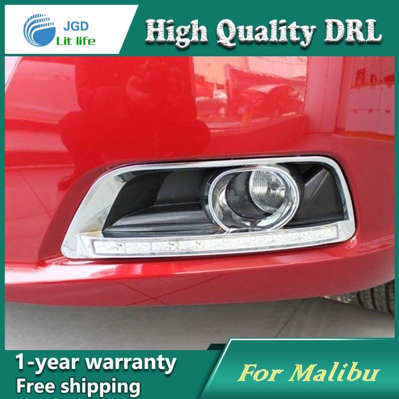 Бесплатная доставка !12В 6000K СИД DRL дневного света чехол для Шевроле Малибу 2011-2013 противотуманная фара стайлинга автомобилей