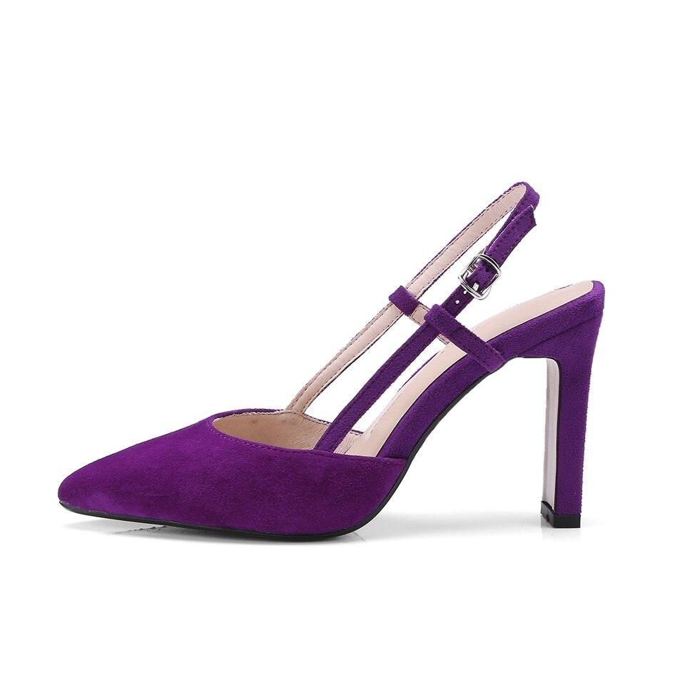 Pointu Noir Maguidern Classique Talons Purple Robe Pompes Dames Haute deep Sandales marron Slingback Sexy Femmes Bout Chaussures qqHOX