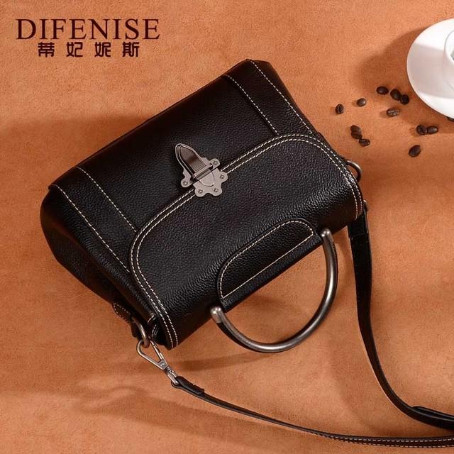 2018 Women Fashion Genuine Leather Handbag Cowhide Messenger Bag Female Brand Designer Large Capacity Shoulder Crossbody Bag