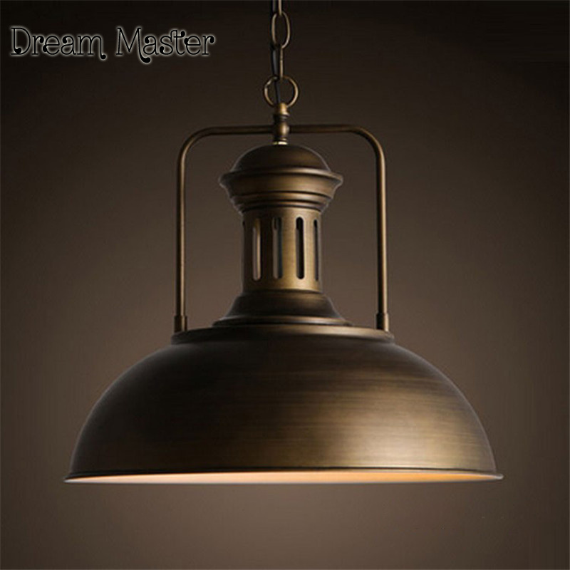 Nordic Restaurant Bar chandelier American Rural creative retro industrial wind iron single head cooker hood nordic retro industrial wind restaurant
