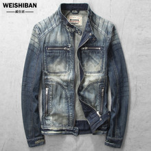 New 2017 Men Denim Jacket Casual Slim Retro Cargo Pluse Size Blue Denim Jackets Brand Motorcycle Jeans Jacket HigH Quality A3319