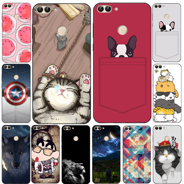 nuovo concetto a1ecd ec848 US $2.99 30% OFF|For Huawei P Smart Case Cover Soft TPU Silicon Cover Cat  Dog Animal Cartoon Funda For Huawei P Smart 2018 PSmart FIG LX3 LX1-in ...