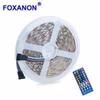 Foxanon LED Strip RGBW 5050 SMD DC12V Flexible LED Night Light RGBWW 4 color in 1 Chip 300 Leds + 40key IR remote controller