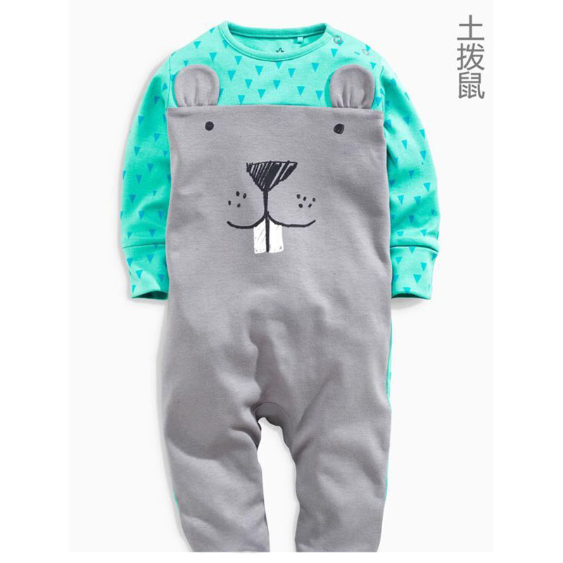 Baby Romper Newborn Baby Boy Clothes Cute Animal Clothing Ropa Bebe Children One Piece Fashion 3 Styles Rompers 1pcs HB058-1 2017 new fashion cute rompers toddlers unisex baby clothes newborn baby overalls ropa bebes pajamas kids toddler clothes sr133