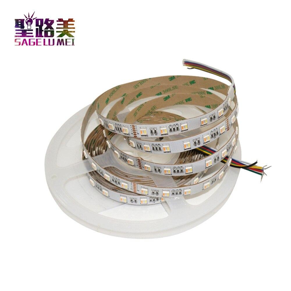 Led Lighting Faithful Dc12v/dc24v 5050 60leds/m Rgb+cct Led Strip 5in 1 Chips Dc24volt 12mm Width Cw+rgb+ww Led Flexible Strips Ip20/ Ip67 Waterproof