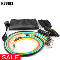 Resistance Bands 11 IN 1 Latex 100LB Pilates Yoga Crossfit Fitness Strength Tubes Pull Rope