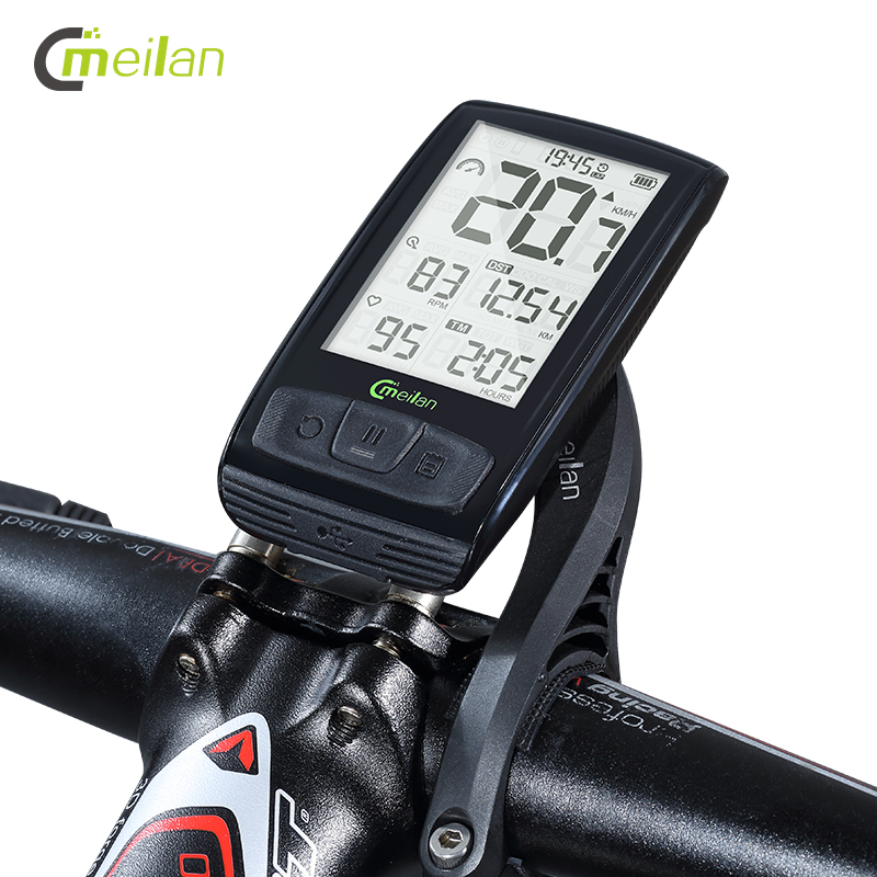 Meilan M4 Wireless Bike Computer Bicycle Speedometer Tachometer cadence Speed Sensor Bluetooth Waterproof sunding bluetooth 4 0 waterproof wireless combo cadence sensor