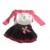 2017 Del Otoño Del Resorte Nuevos Niños de La Manera Muchachas de la Ropa Vestido de Flores Traje Kids Cordón de La Princesa de Tres piezas Conjunto