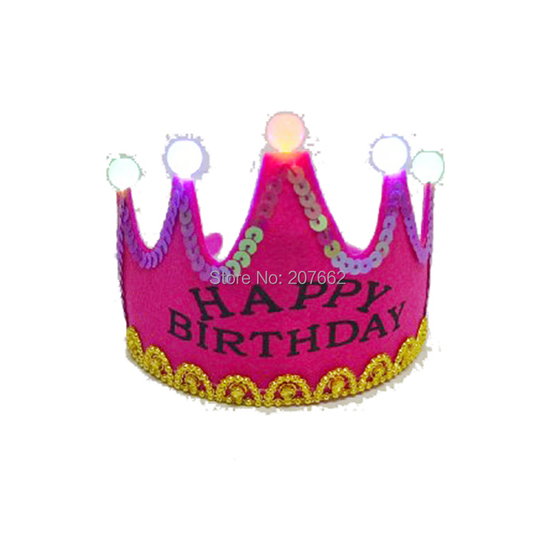 Ev ve Bahçe'ten Kızdırma Parti Malzemeleri'de 100 adet/grup LED Işıklı Taç Doğum Günü Şapka Çocuk Kız Prenses Çocuk Kral Kap Doğum Günü Partisi Kutlama Dekorasy'da  Grup 1