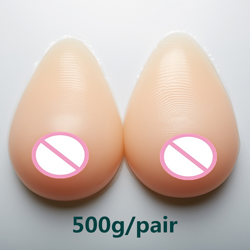 500g/pair Silicone Fake Breast Forms Natural Adhesive Silicone False Fake Breasts Boobs Forms Enhancer Crossdresser блуза base forms base forms mp002xw1b3dd