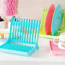 Plastic Foldable Plate Dish Drying Drainer Rack Organizer Storage Holder Kitchen Home Utensils