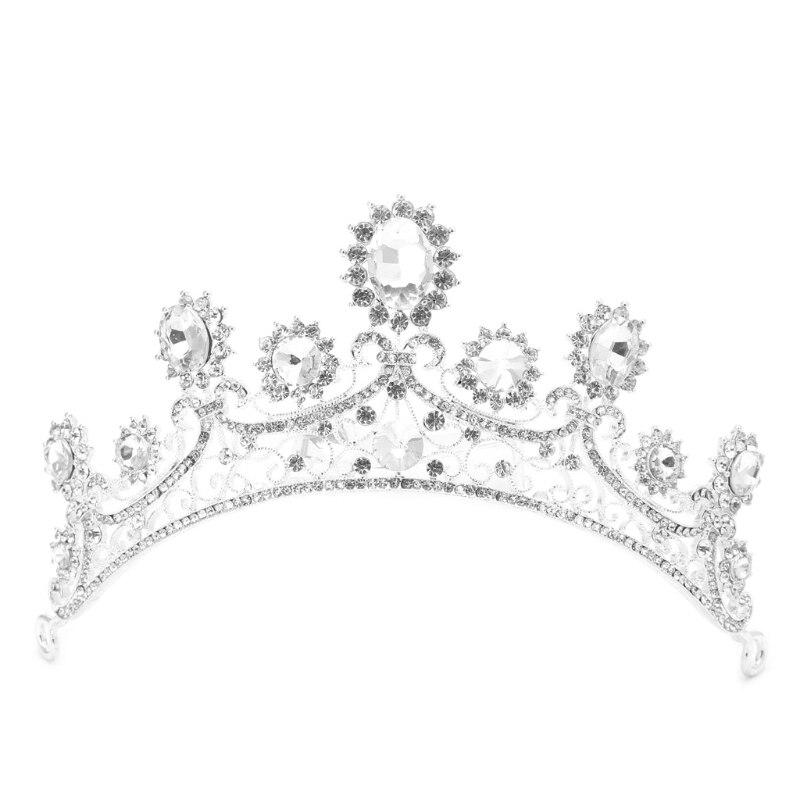 Wedding Bridal Tiara Rhinestone Crown Prom Pageant Hair Headband Accessories New